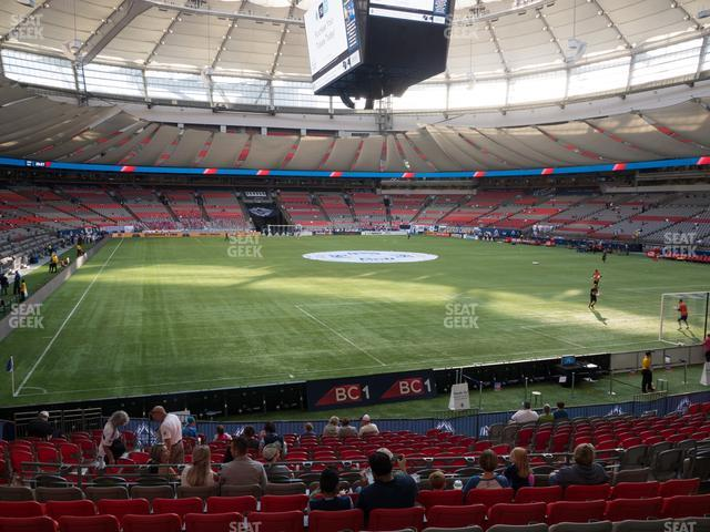 BC Place Stadium Section 231 view