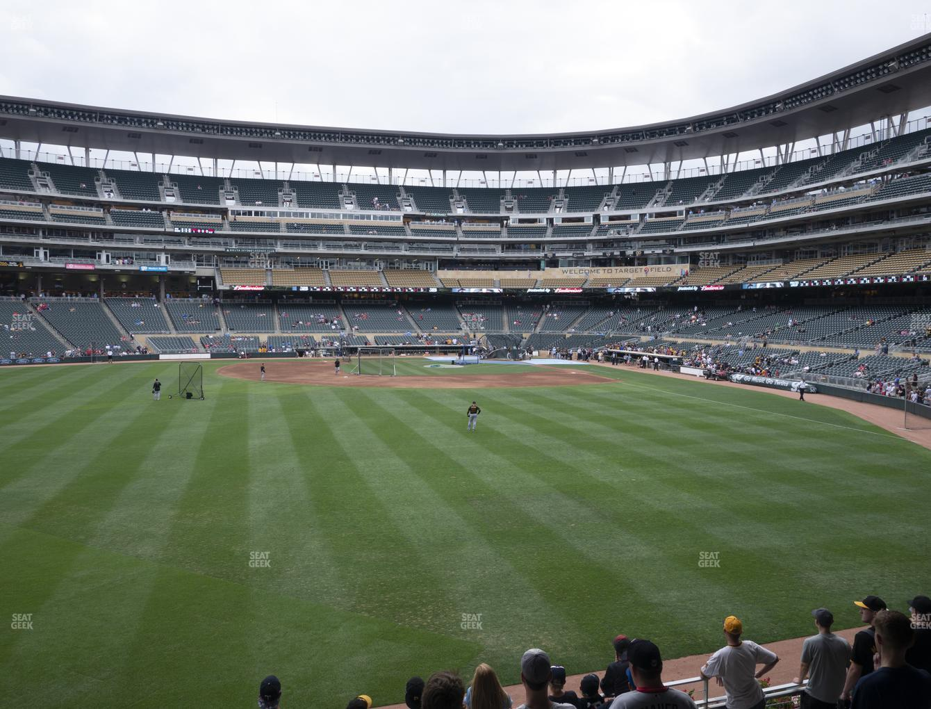 Minnesota Twins at Target Field Section 130 View
