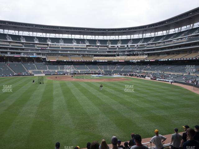 Target Field Section 130 view