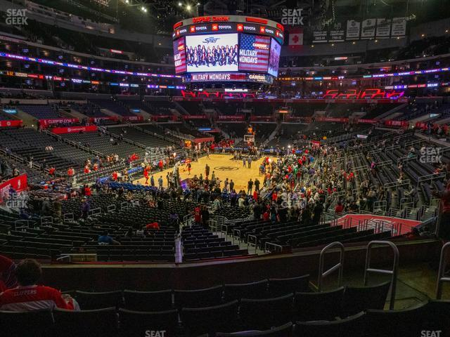 Staples Center Section 206 view