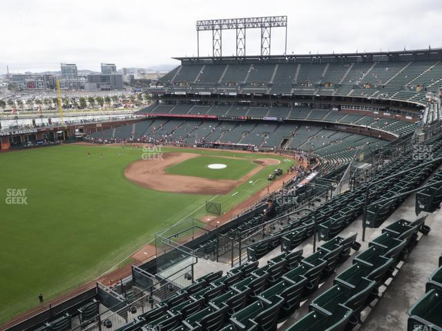 Oracle Park Section 332 view