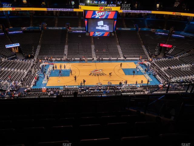 Chesapeake Energy Arena Section 324 view