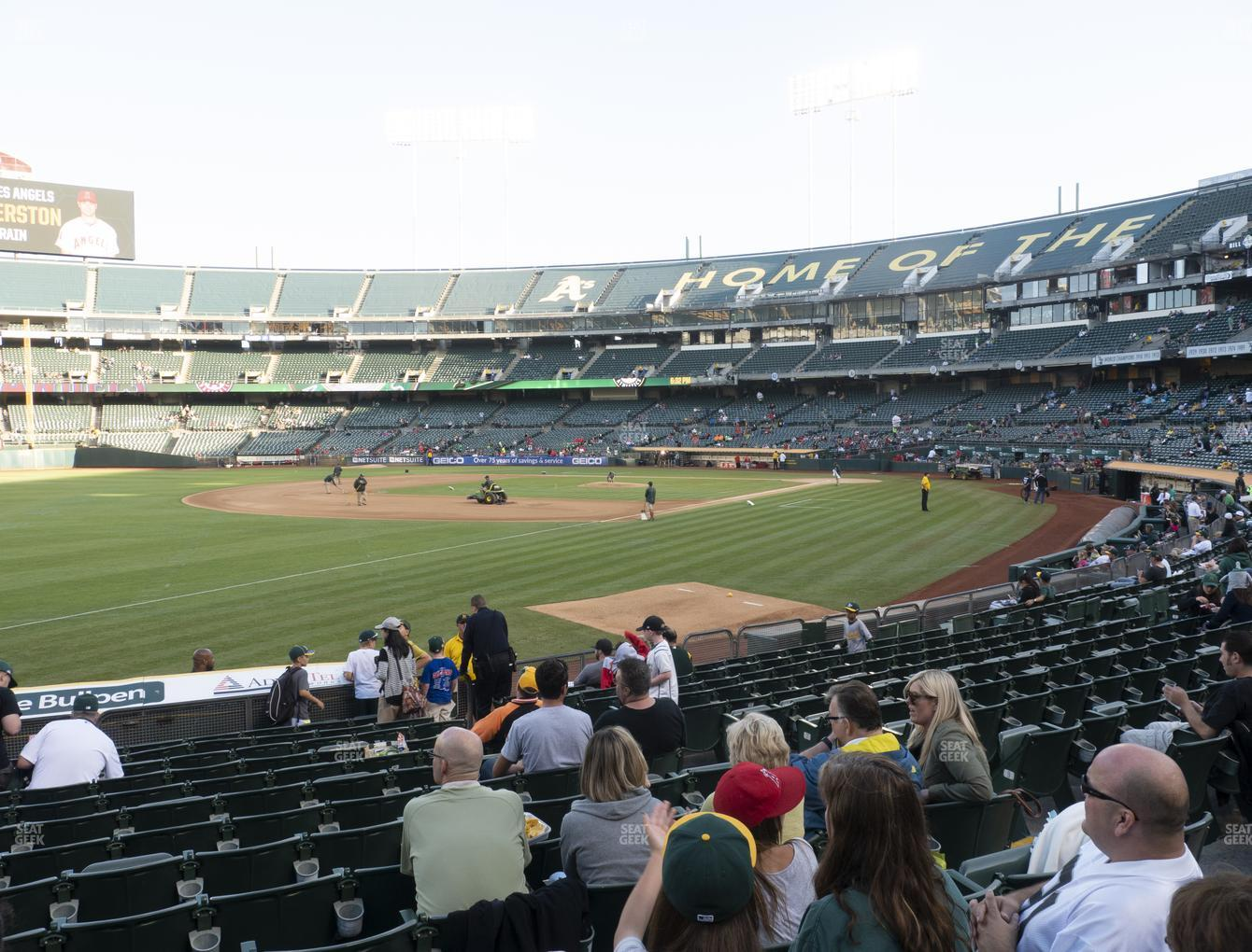 Oakland Athletics at RingCentral Coliseum Section 128 View