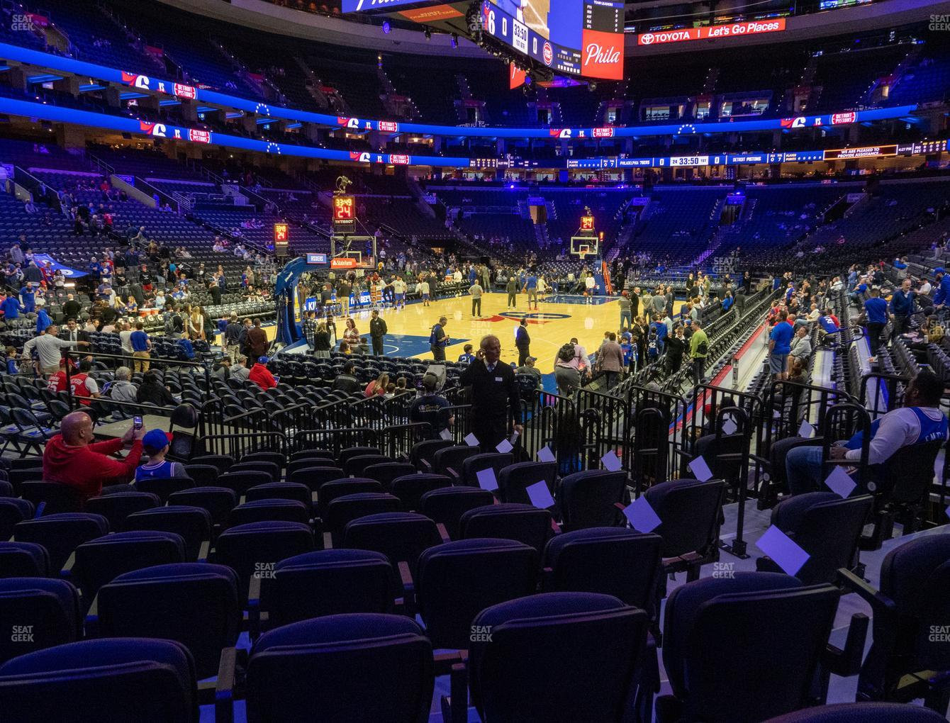 Philadelphia 76ers at Wells Fargo Center Section 109 View