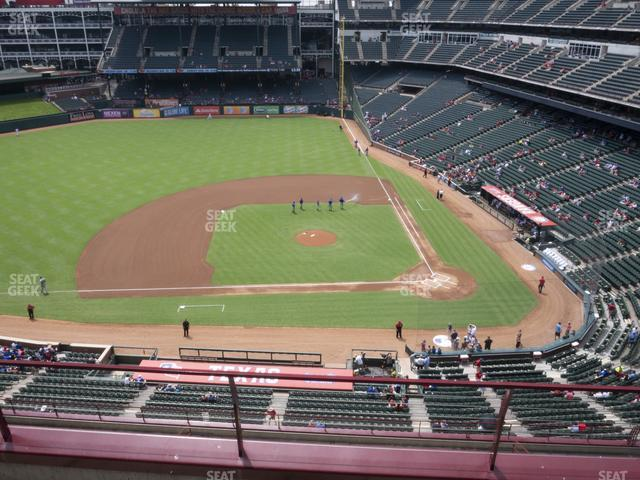 Globe Life Park Section 320 view