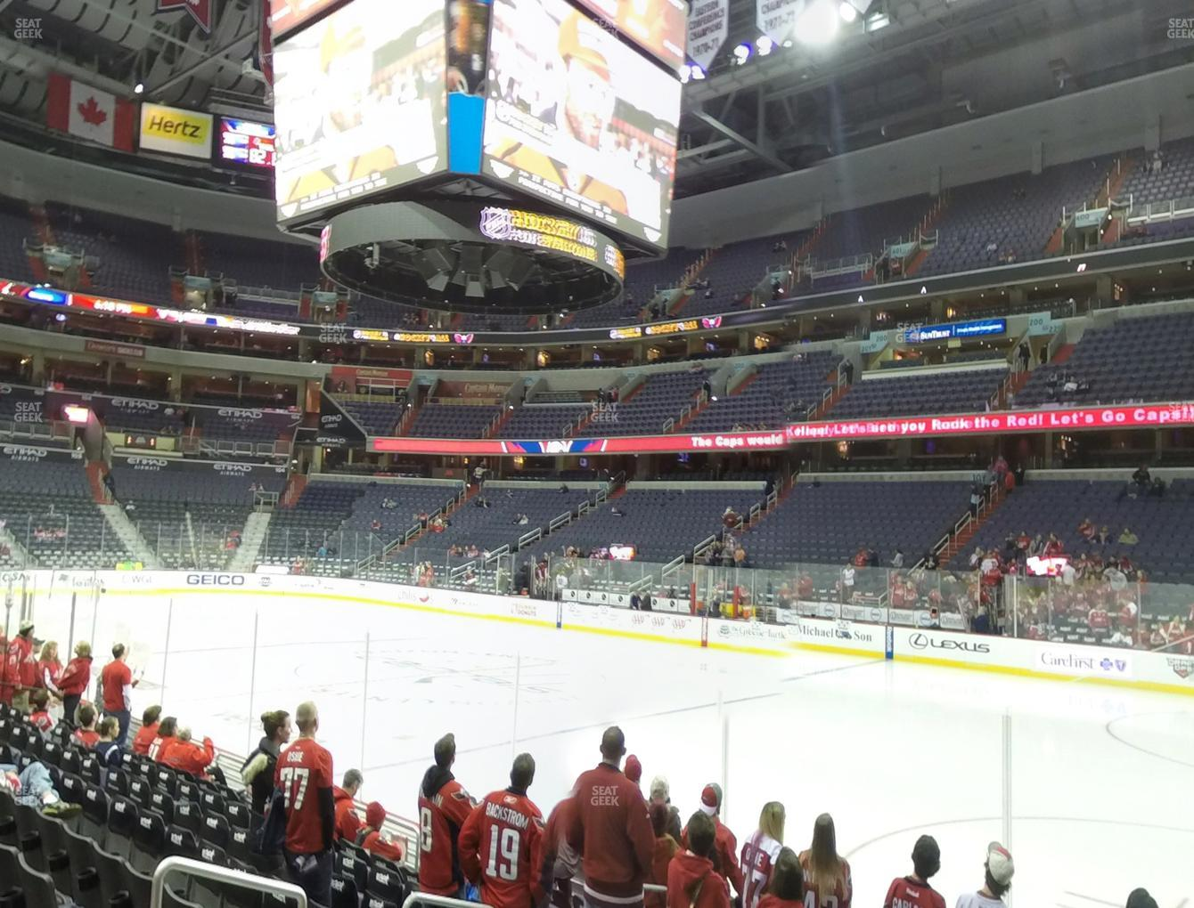 Washington Capitals at Capital One Arena Section 113 View