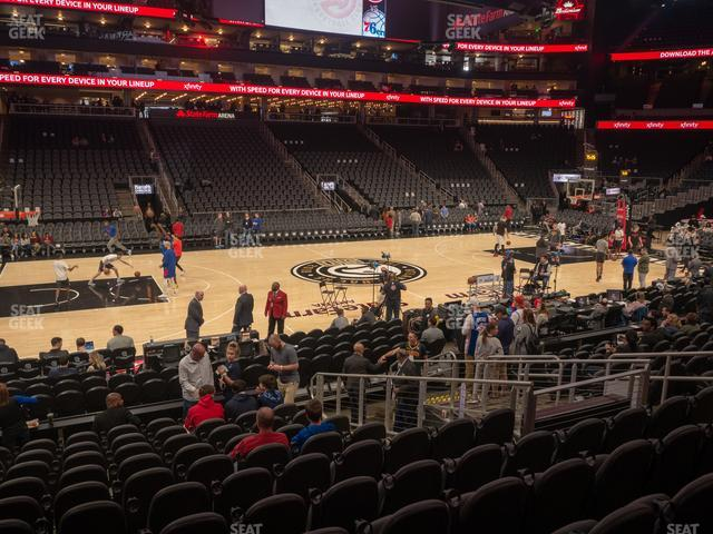 State Farm Arena Section 120 view
