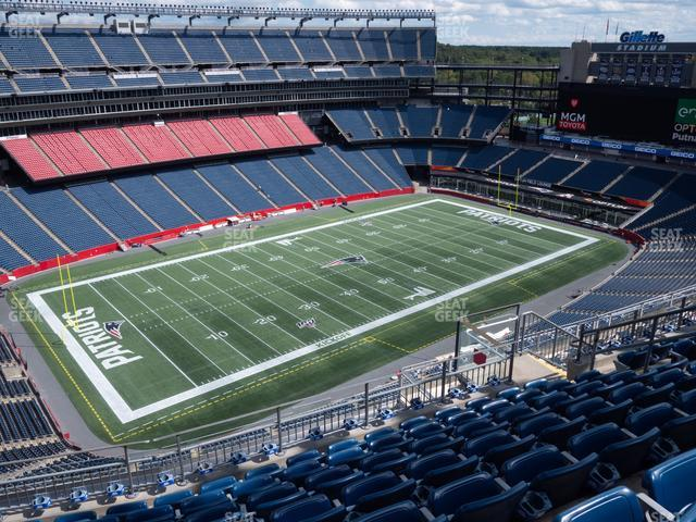 Gillette Stadium Section 337 view