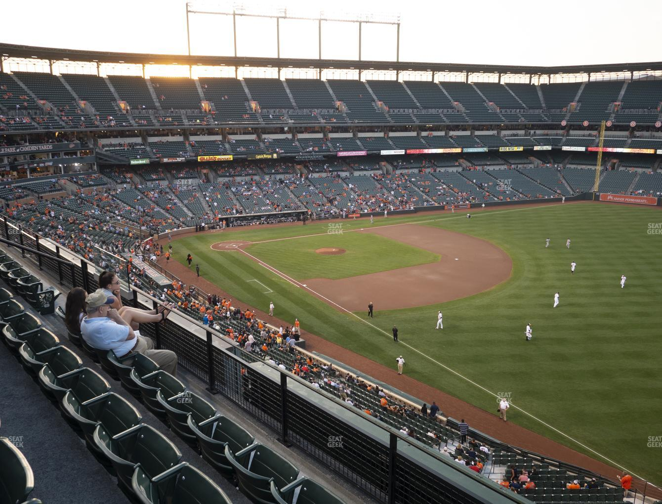 Baltimore Orioles at Oriole Park at Camden Yards Section 308 View