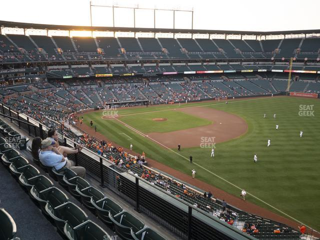Oriole Park at Camden Yards Section 308 view