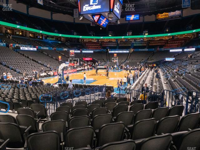 Chesapeake Energy Arena Section 109 view
