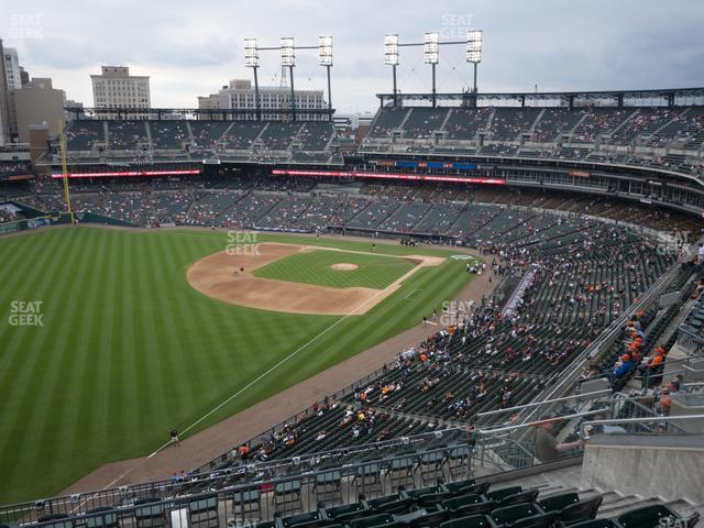 Comerica Park Section 343 view