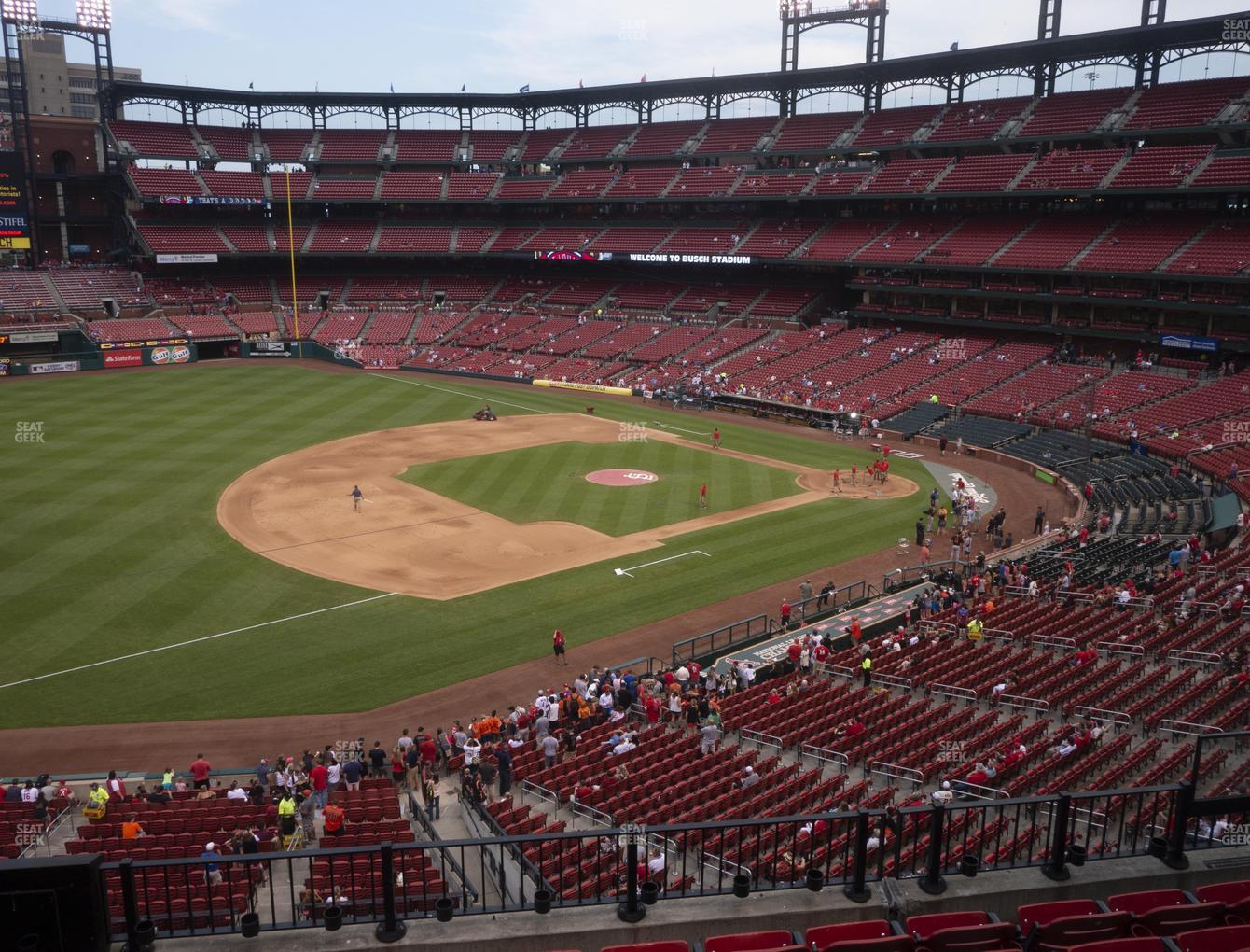 St. Louis Cardinals at Busch Stadium Third Base Loge 261 View
