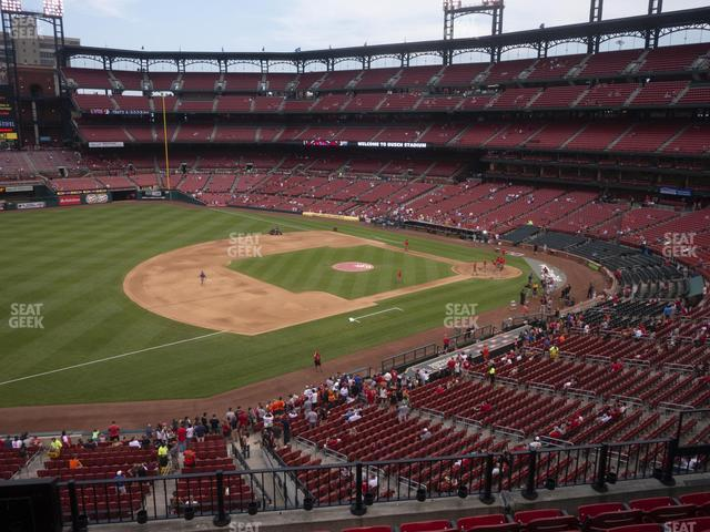 Busch Stadium Third Base Loge 261 view