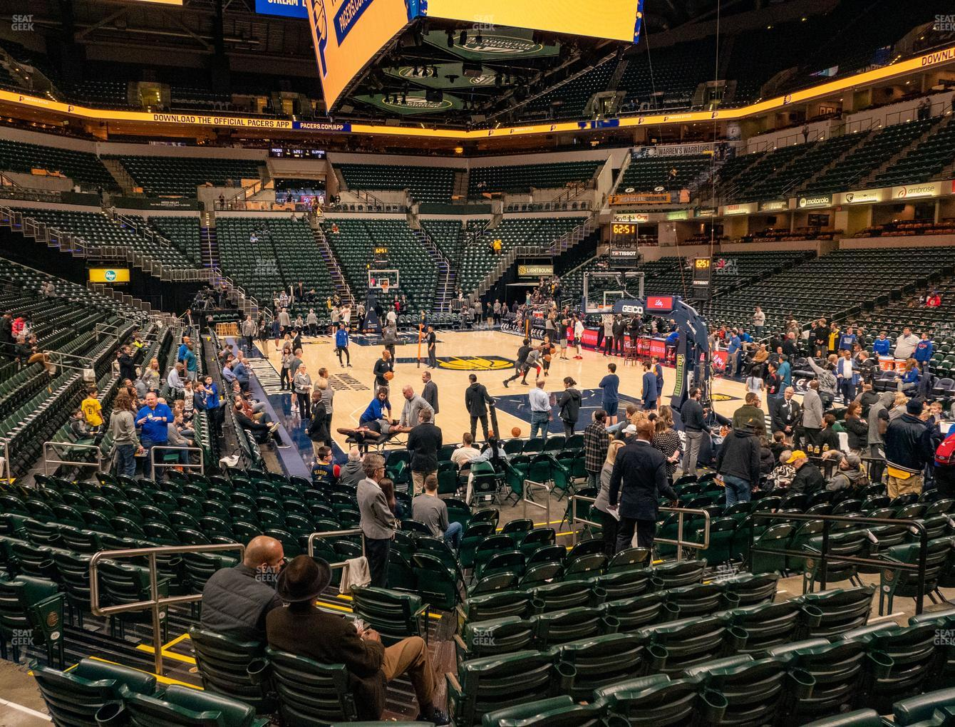 Indiana Pacers at Bankers Life Fieldhouse Section 12 View