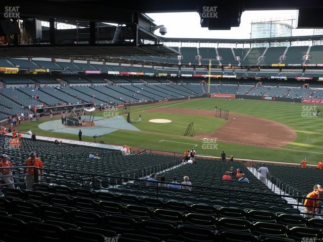 Oriole Park at Camden Yards Section 17 view
