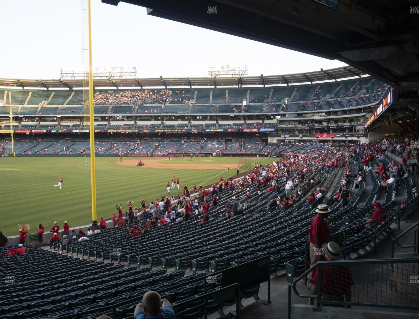 Los Angeles Angels at Angel Stadium of Anaheim Section 203 View