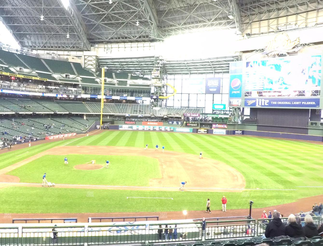 Milwaukee Brewers at American Family Field Section 213 View