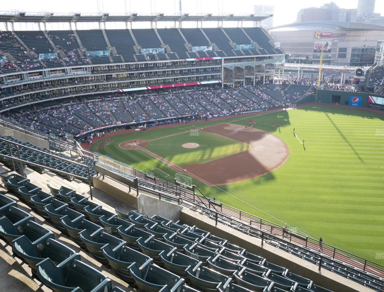Cleveland Indians at Progressive Field Section 528 View