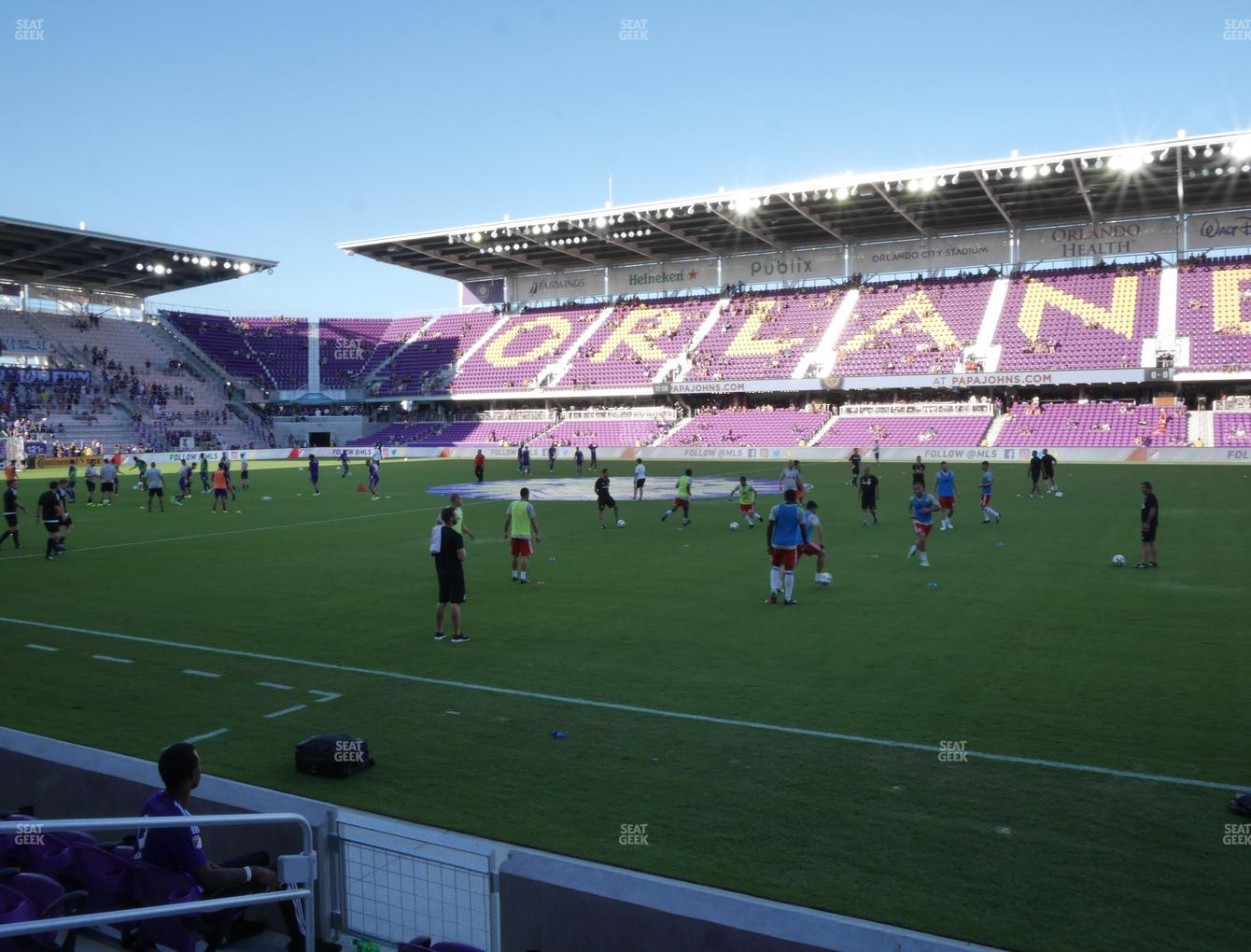 Concert at Exploria Stadium Section 13 View