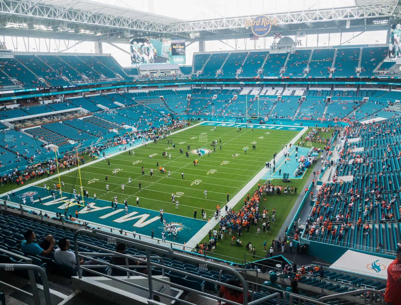 Miami Dolphins at Hard Rock Stadium Section 328 View