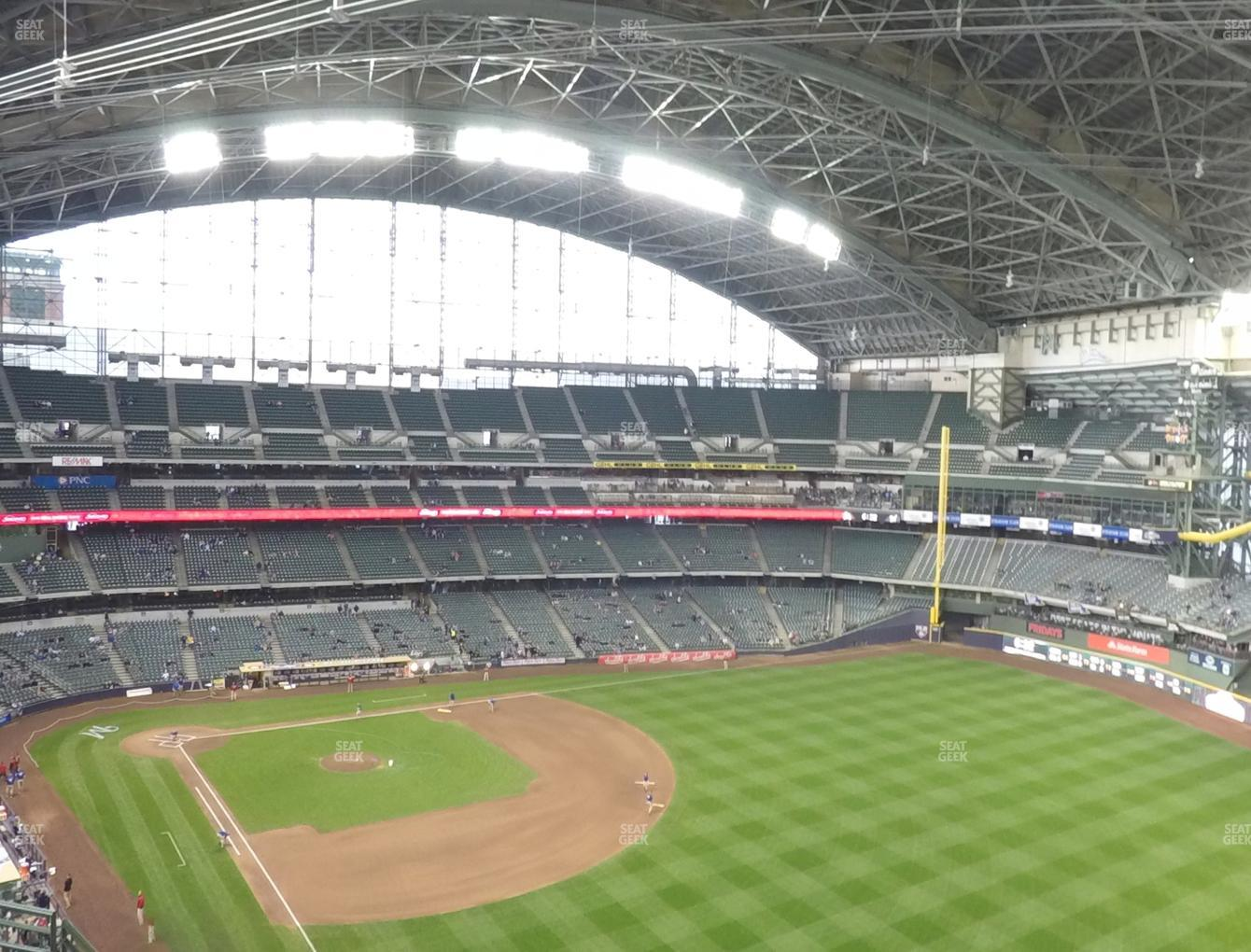 Milwaukee Brewers at Miller Park Section 406 View