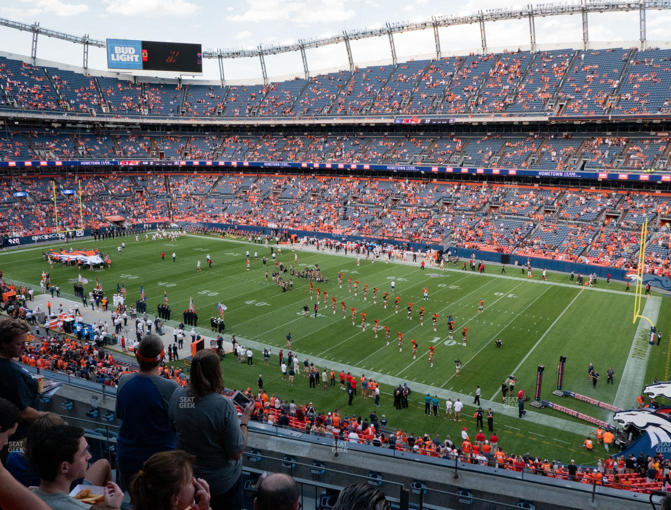 Denver Broncos at Empower Field at Mile High Section 303 View
