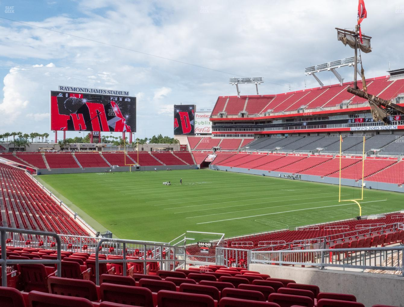 Tampa Bay Buccaneers at Raymond James Stadium Section 245 View