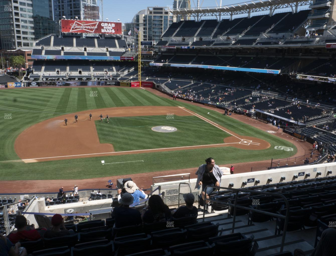 San Diego Padres at Petco Park Section 210 View