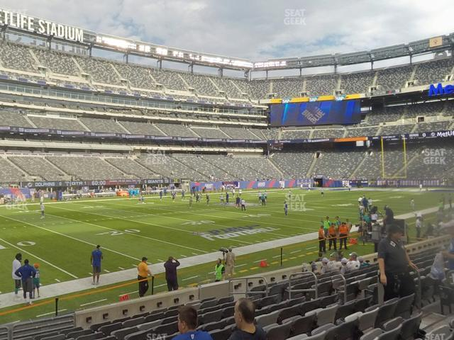 MetLife Stadium Section 143 view