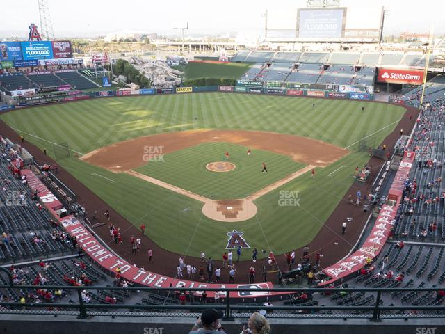 Angel Stadium of Anaheim Section 418 view