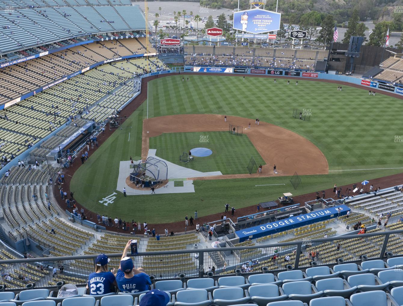 Los Angeles Dodgers at Dodger Stadium Section Top Deck 10 View