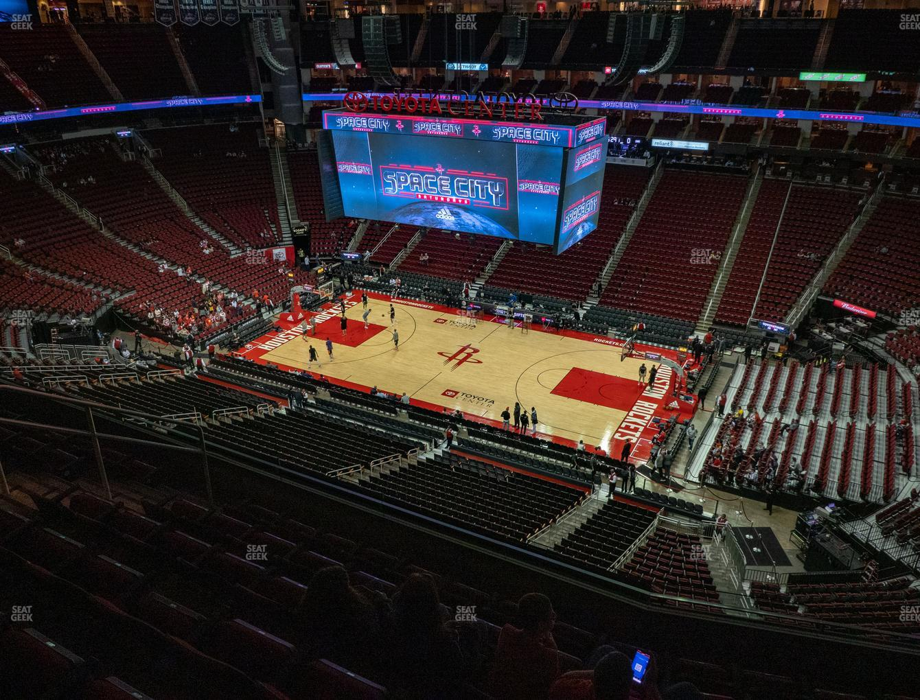 Houston Rockets at Toyota Center Section 407 View