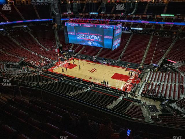Toyota Center Section 407 view