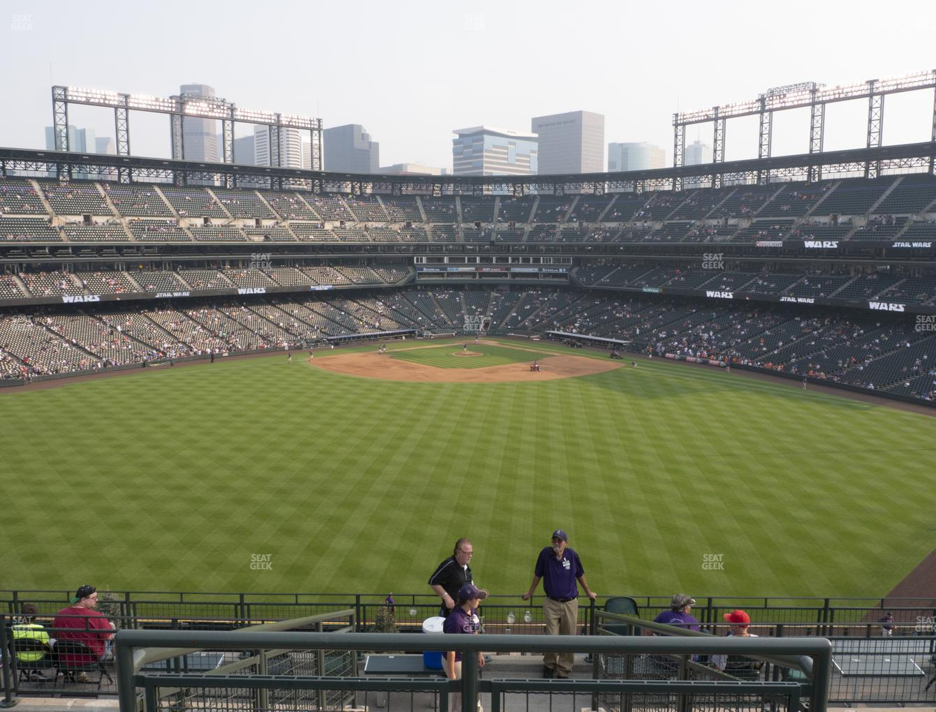 Colorado Rockies at Coors Field Section 402 View