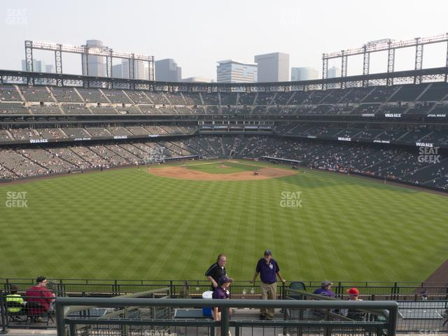 Coors Field Section 402 view