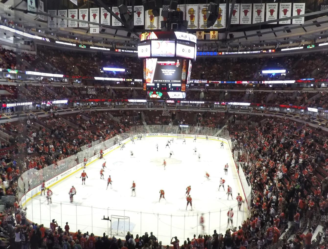Chicago Blackhawks at United Center Section 208 View