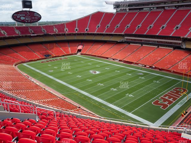 Arrowhead Stadium Section 341 view