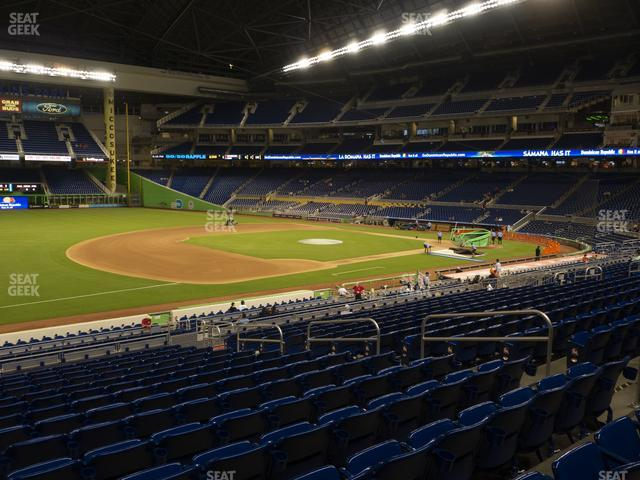 Marlins Park Section 23 view