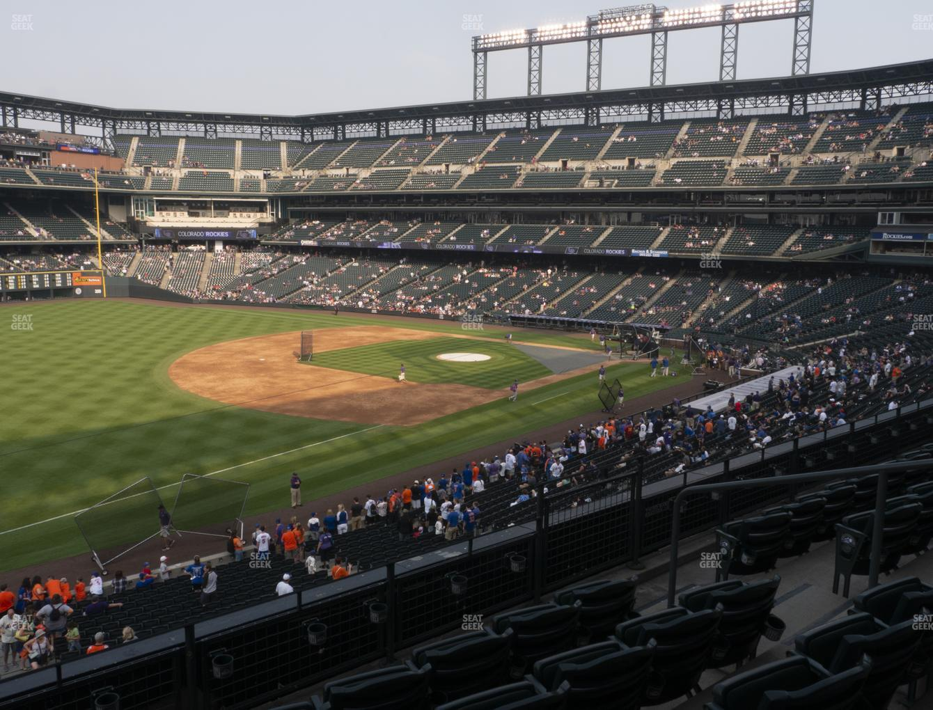 Colorado Rockies at Coors Field Section 245 View
