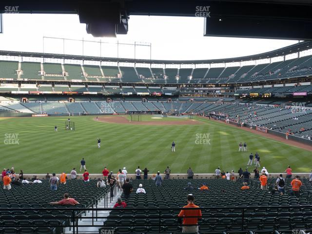 Oriole Park at Camden Yards Section 85 view