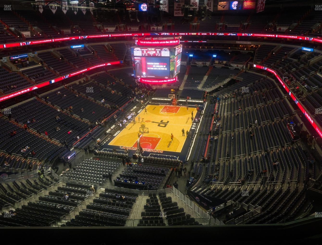 Washington Wizards at Capital One Arena Section 410 View