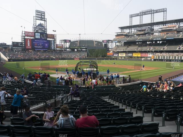 Coors Field Section 130 view