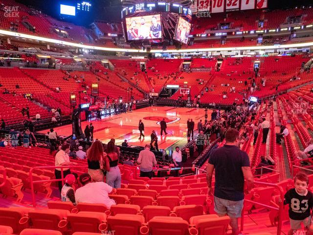 American Airlines Arena Section 111 view