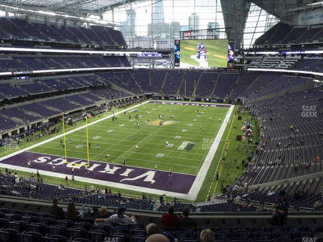 U.S. Bank Stadium Section 221 view