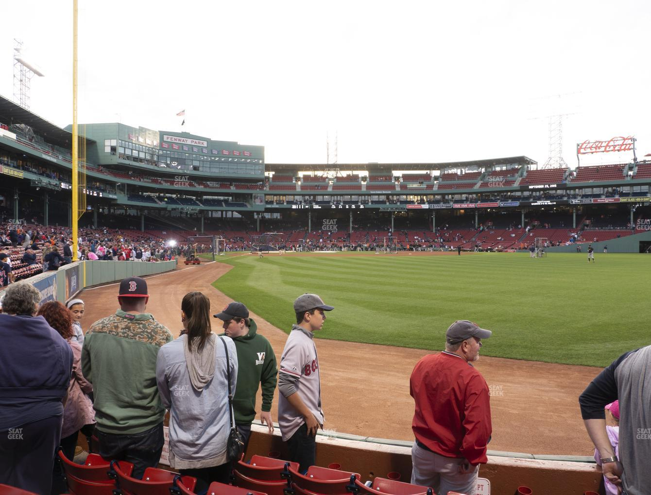 Boston Red Sox at Fenway Park Right Field Box 2 View