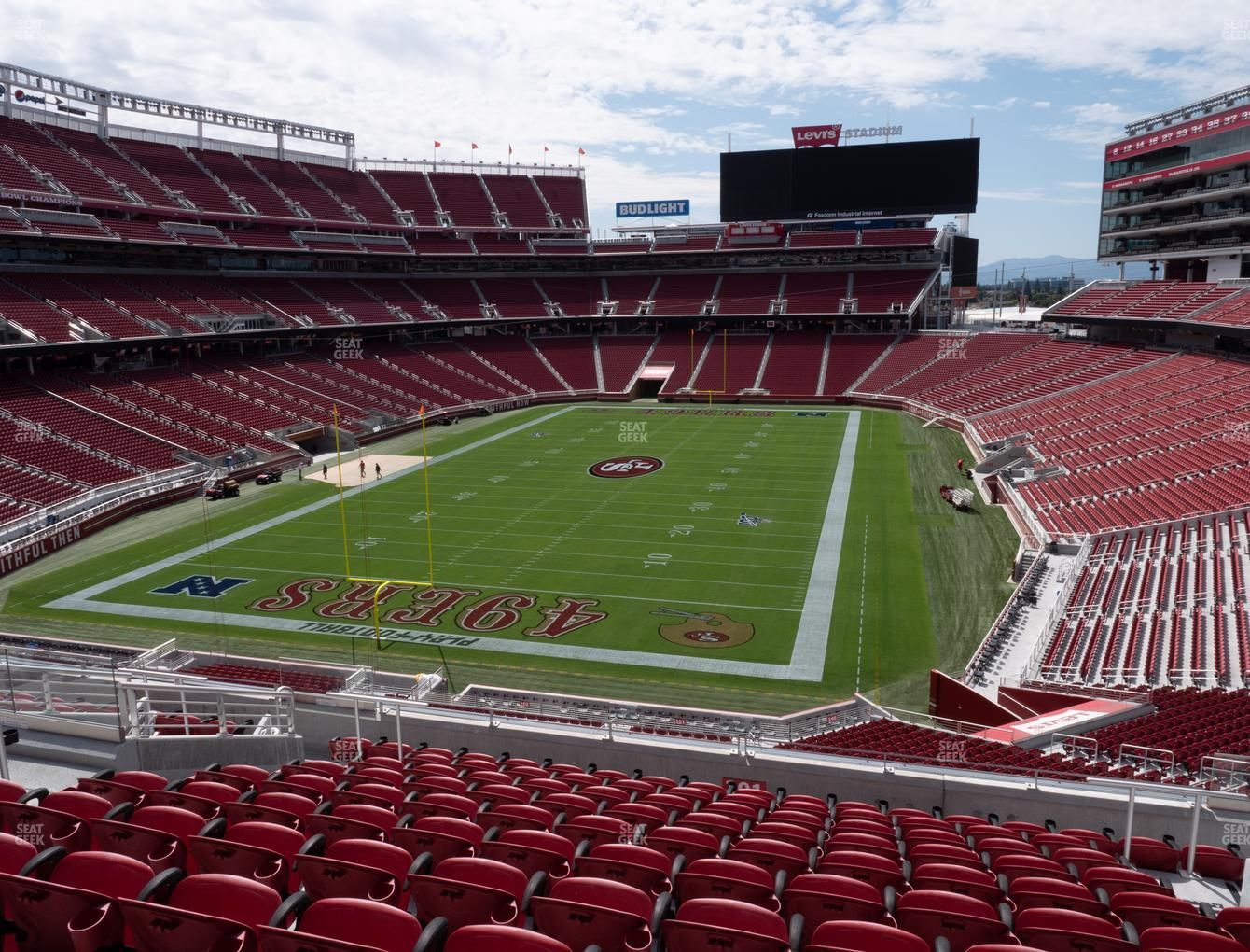 San Francisco 49ers at Levi's Stadium Section 201 View