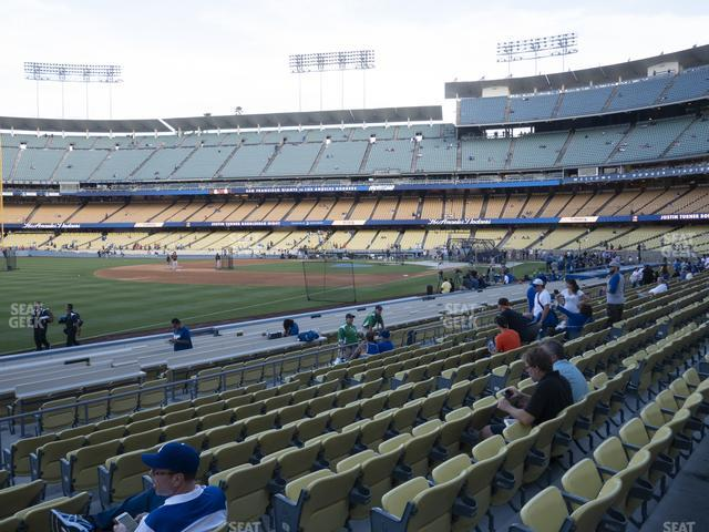 Dodger Stadium Field Box 43 view