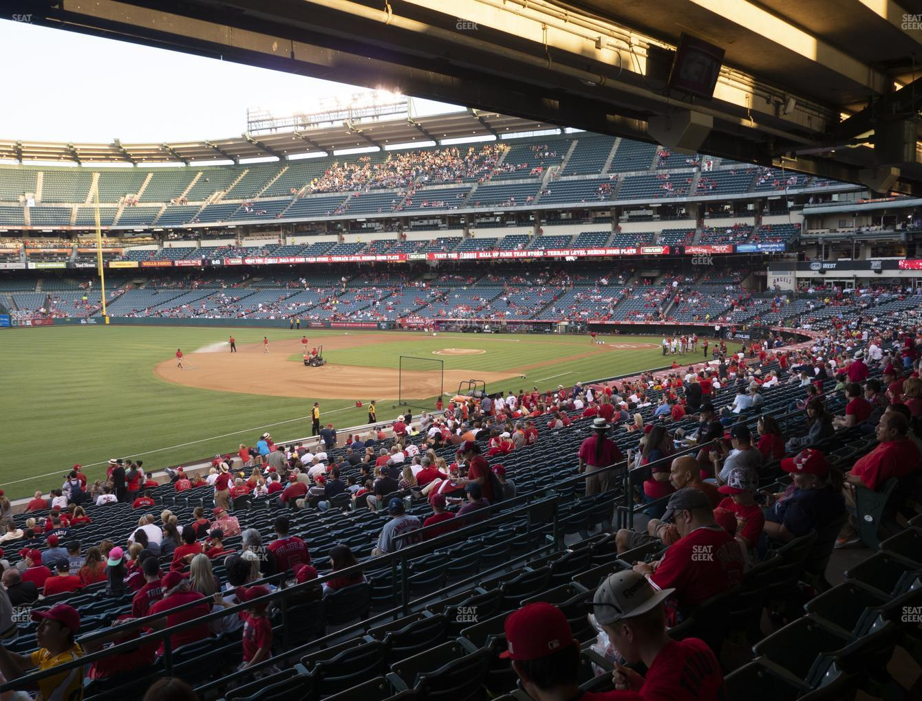 Los Angeles Angels at Angel Stadium of Anaheim Section 207 View