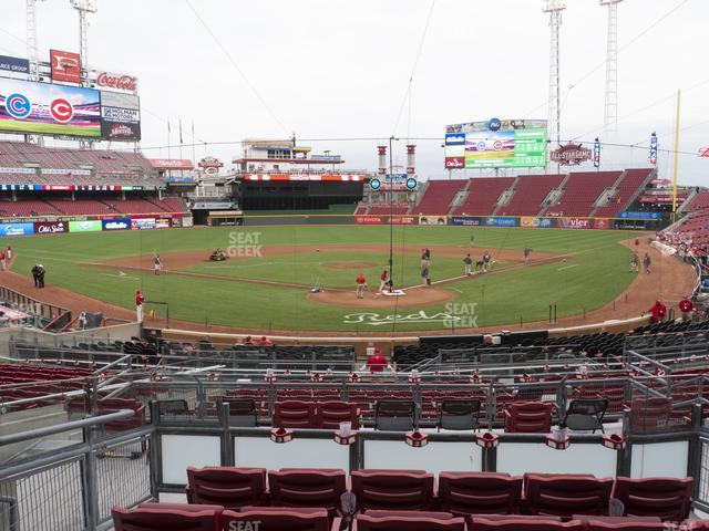 Great American Ball Park Section 123 view